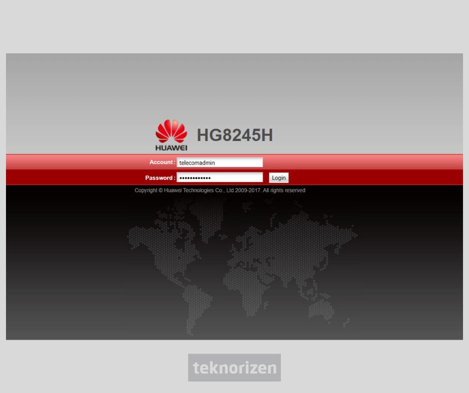 cara ganti password wifi huawei hg8245h