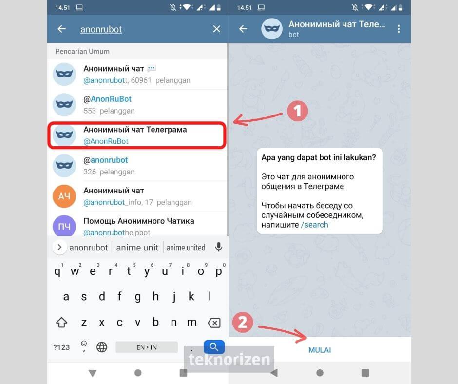 cara mencari teman luar negeri di telegram