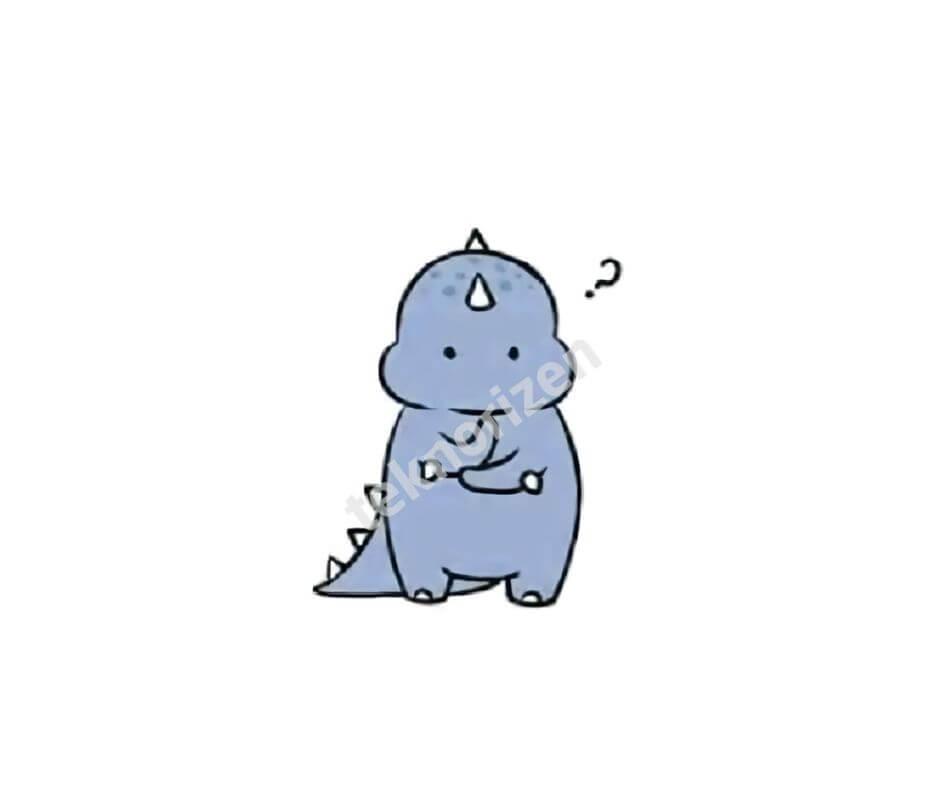 dinosaurus biru tiktok