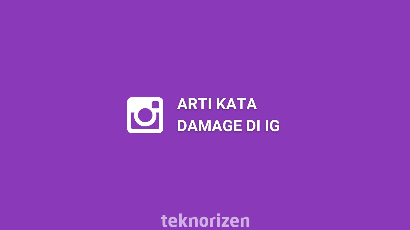 Apa itu Arti Kata Damage di Instagram Ini Penjelasannya   TeknoRizen